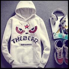 Áo khoác nỉ hoodie THE BEAR thời trang hàn quốc cao cấp ( xám trắng )