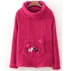 Áo khoác nữ – Áo khoác bông ấm tay dài cổ cao (hồng) cung cấp bởi Vnhieu