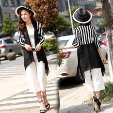 Áo khoác nữ, áo khoác cardigan nữ đẹp, áo khoác kimono nữ dễ thương, áo khoác cardigan kimono đen kẻ sọc thời thượng thương hiệu Evyy