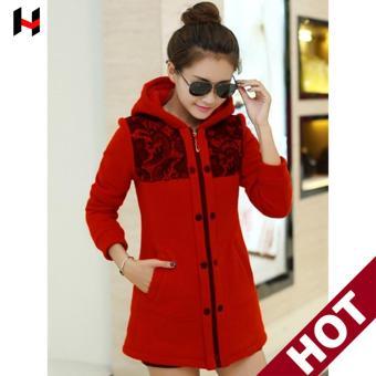 Áo Khoác nữ - áo nỉ nữ -áo hoodie nữ (Đỏ) cung cấp bởi vnHieu ...