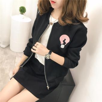 Áo khoác nữ Hàn Quốc dễ thương H&H 1985 HH1819 (Màu Đen)