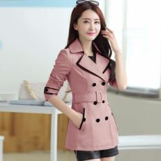 Áo khoác nữ kaki viền màu AK60 – Hồng