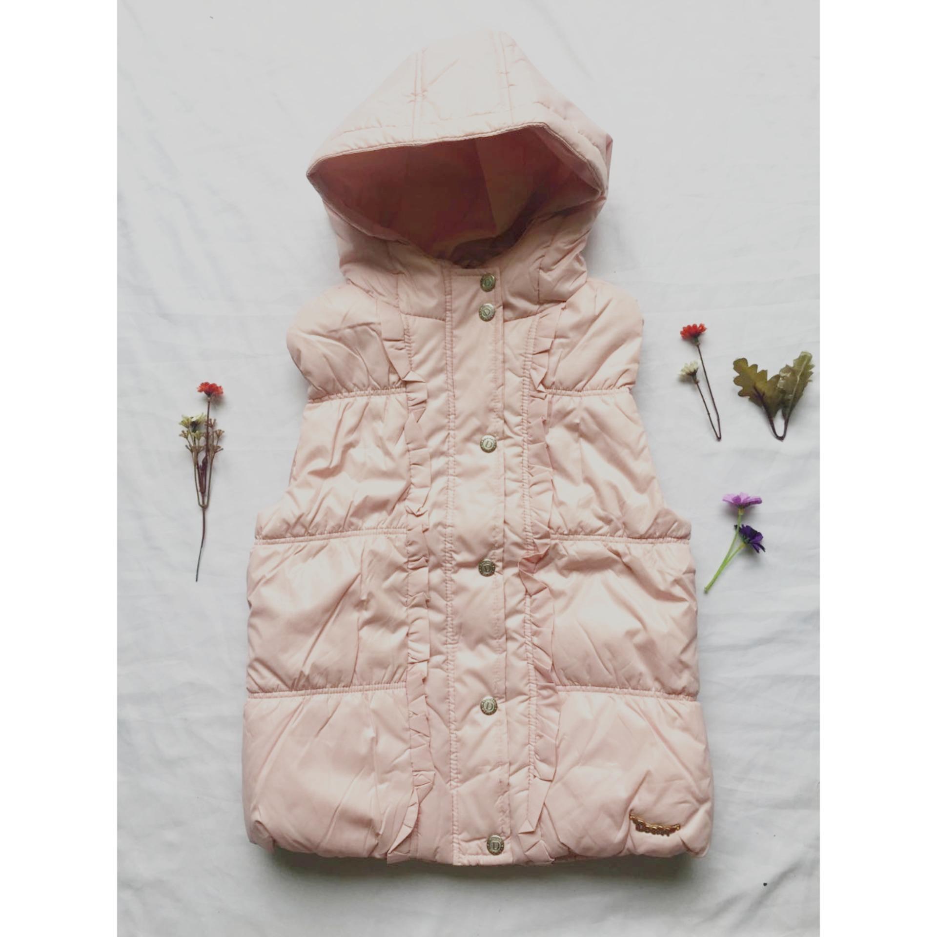 Cách mua Áo khoác phao ba lỗ bé gái thanh niên mùa thu đông – hồng – ddcatkis city fashion 06109