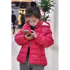 Áo khoác phao – lót lông dành cho trẻ em 6-7 tuổi (Size 7) – HÀNG XUẤT KHẨU (Hồng)