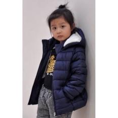 Áo khoác phao – lót lông dành cho trẻ em 6-7 tuổi (Size 7) – HÀNG XUẤT KHẨU (Xanh)
