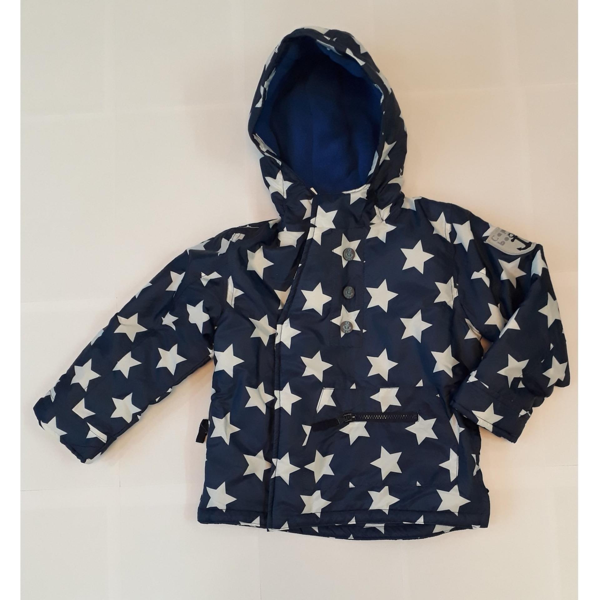 áo khoác xanh đạm thêm ngôi sao