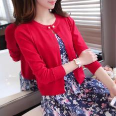 Áo Khoác len Cadigans Thu Đông Hàn Quốc (Đỏ)