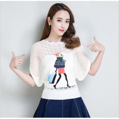 {Mua 1 tặng 1}Áo Len Cánh Dơi Thêu Xinh Xắn ALN010D Shopping Girl tặng Áo Lót Lá