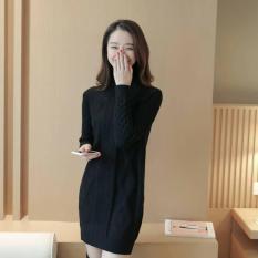 Áo len lông cừu dáng dài style Hàn Quốc