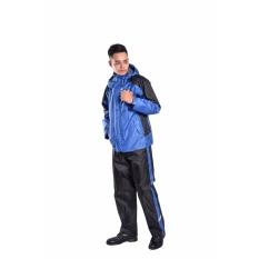 Áo mưa bộ Sơn Thủy chất liệu mới (vải tráng 6 lớp nhựa PU) màu xanh lam K23B