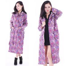 Áo mưa măng tô nữ họa tiết hoa Cao Cấp