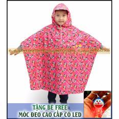 Áo mưa siêu nhẹ trẻ em cao cấp GSHOP (RED) : Siêu nhẹ – Ngộ Nghĩnh + Tặng FREE móc khóa phát sáng