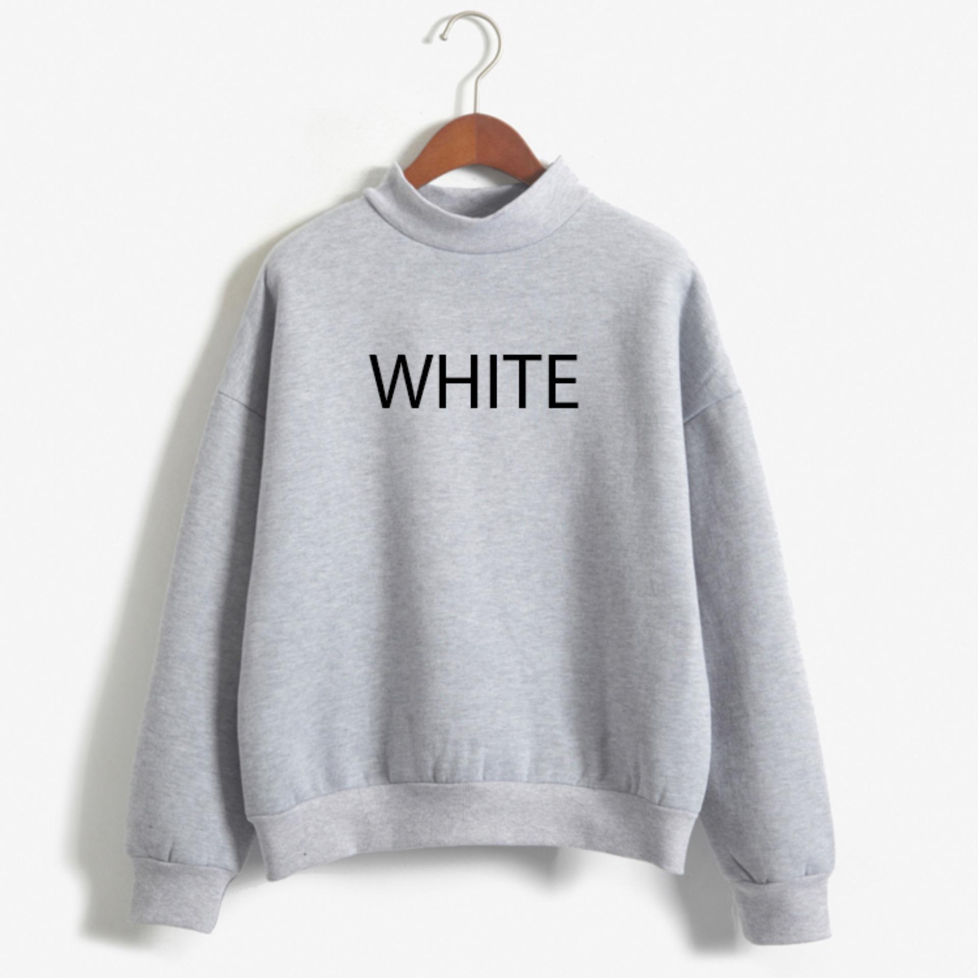 Chỗ nào bán Áo nỉ WHITE phong cách hàn quốc