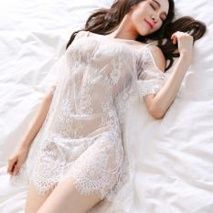 Áo ren lưới đi biển kiêm áo ngủ CDAN40 RainStore – Trắng – Hàng Cao Cấp – Size L