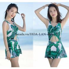 Áo Tắm 1 Mảnh Lá Cây HLAT025 HOA LAN