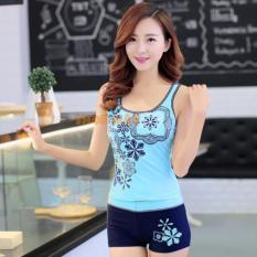 Áo Tắm Hoa Lan Khoe Dáng AT042 (Xanh)