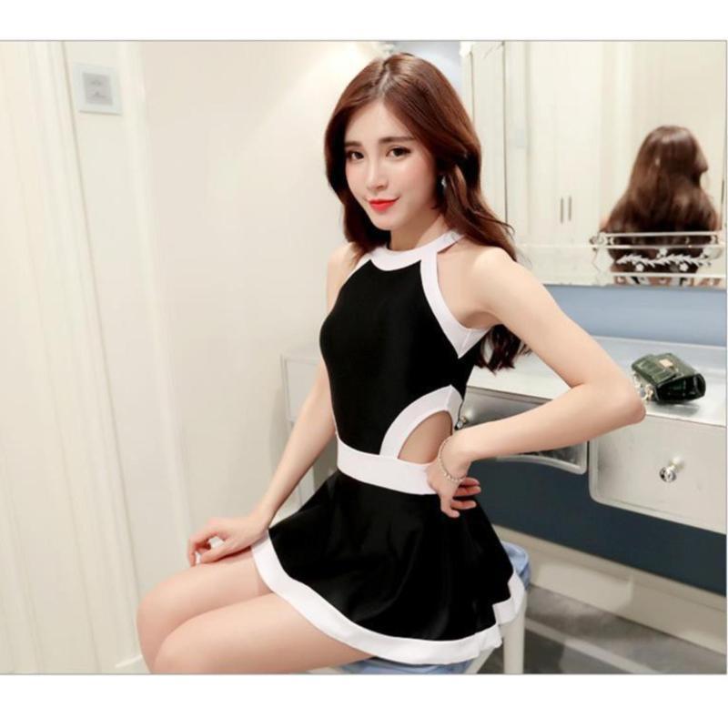 Nơi bán Áo tắm váy khoét eo màu đen