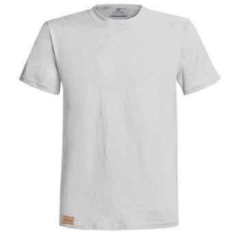 Áo thun cổ tròn 100% cotton (trắng)