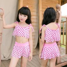 Áo tắm váy bơi cho bé gái 7 -10 tuổi, Áo bơi đan chéo, sành điệu cho bé – DD
