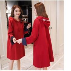áo váy có mũ mẫu mới 2018 màu đỏ
