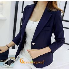 Áo vest nữ áo vest kiểu hàn đẹp kiểu hàn quốc GLA081 xanh đen