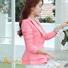 Áo vest nữ đẹp áo vest kiểu peplum vai bồng GLA084
