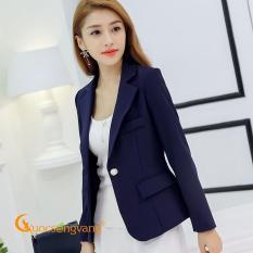 Áo vest nữ xanh đen áo vest kiểu hàn đẹp kiểu hàn quốc GLA081