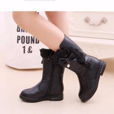 B04DE – Giày bốt cao cổ cho bé gái