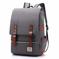 Balo nam thời trang phong cách mới HQ PLaza T214U 2(xám) tặng túi đựng bút chì, bút mực VPP K 335