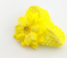 Băng đô thun lưới hoa mai vàng BD3252 (Vàng)