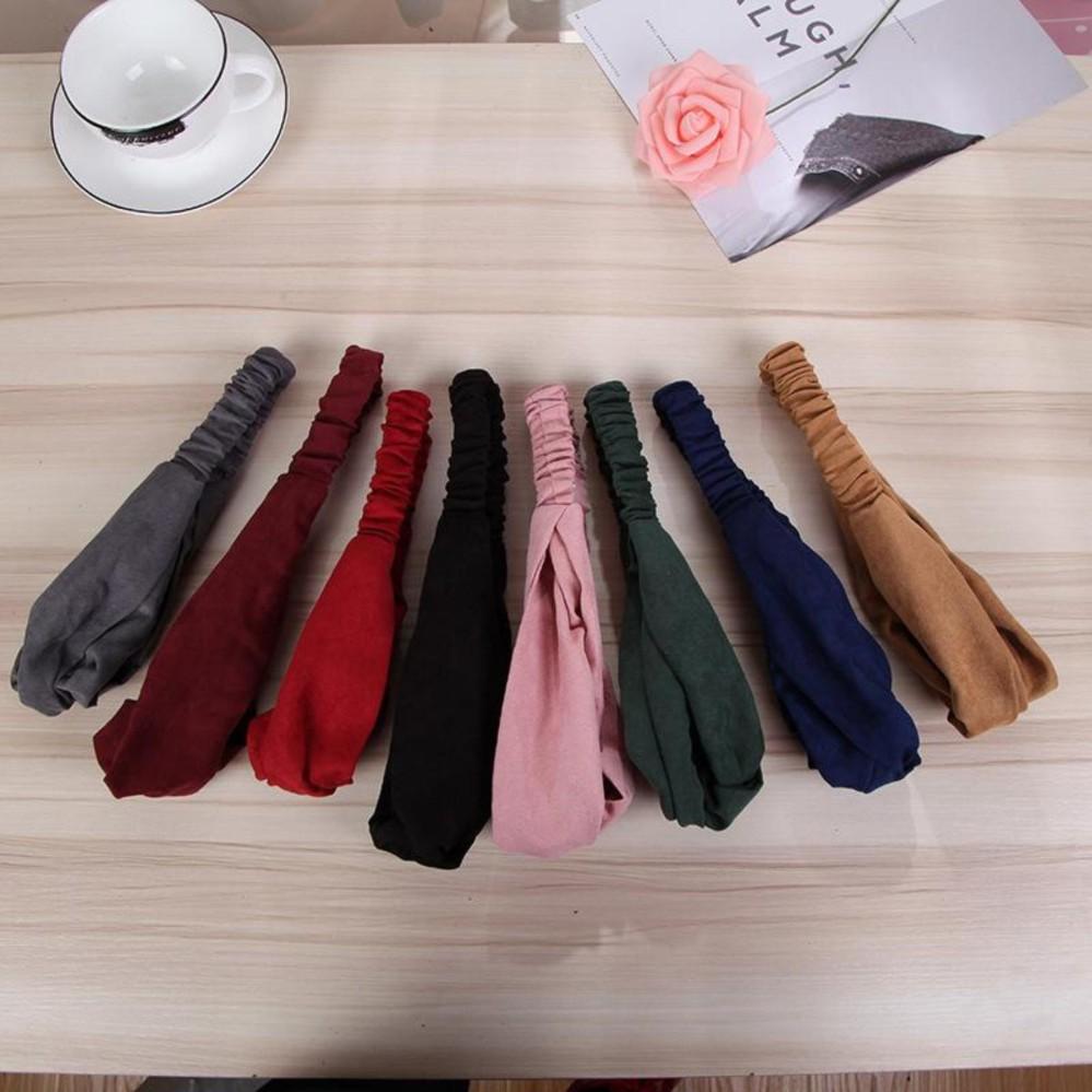 Băng đô turban vải nhung cao cấp mẫu mới (Màu đỏ tươi) SYT37