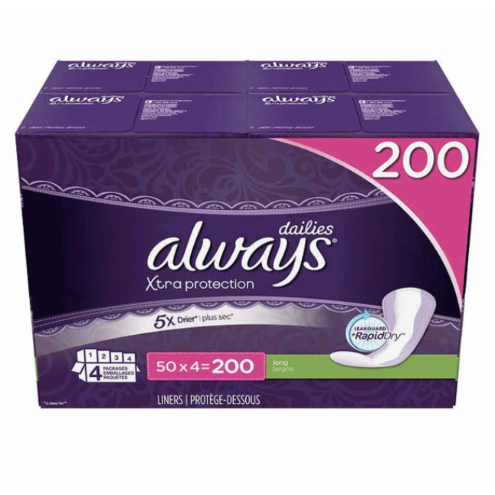 Cách mua Băng vệ sinh hằng ngày Always Dailies Xtra Protection 200 miếng