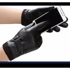 Bao tay găng tay nam da cao cấp CẢM ỨNG Smartphone lót lông giữ ấm mùa đông CLN003