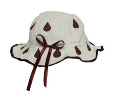 Bigood Children Baby Girl's Summer Pretty Floral Bucket Sun Beach Sun Hat Beige – intl