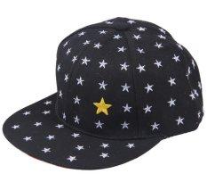 Bigood Trẻ Em Hip Hop Ngôi Sao In Hình Nón Snapback Áo Mũ Bóng Chày Đen-quốc tế