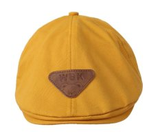 Bigood Kids Childrens Beret Derby Tweed Flat Cap Hunting Shooting Hat Orange – intl