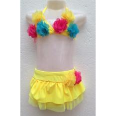 Bikini đính hoa bé gái 3-6 tuổi