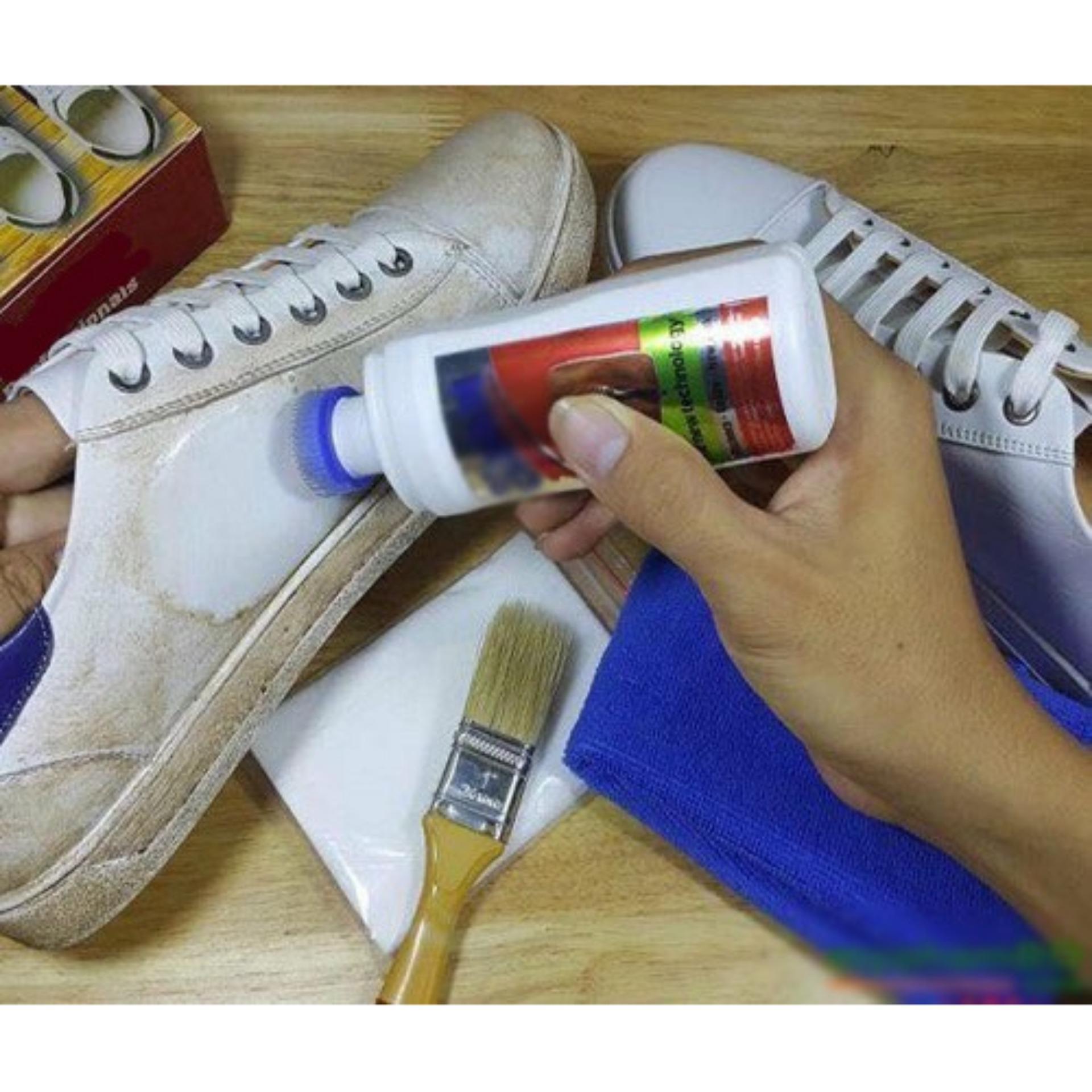 Bình xịt làm sạch vết bẩn giày và túi da tiện dụng