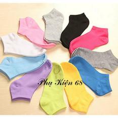 Cửa hàng bán Bộ 06 đôi vớ (tất) cổ ngắn trơn nhiều màu Phụ Kiện 68