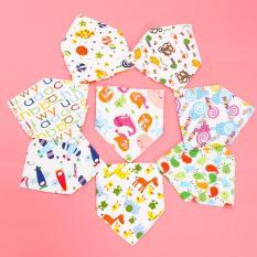 Bộ 10 khăn yếm tam giác 2 lớp chất cotton mềm mịn