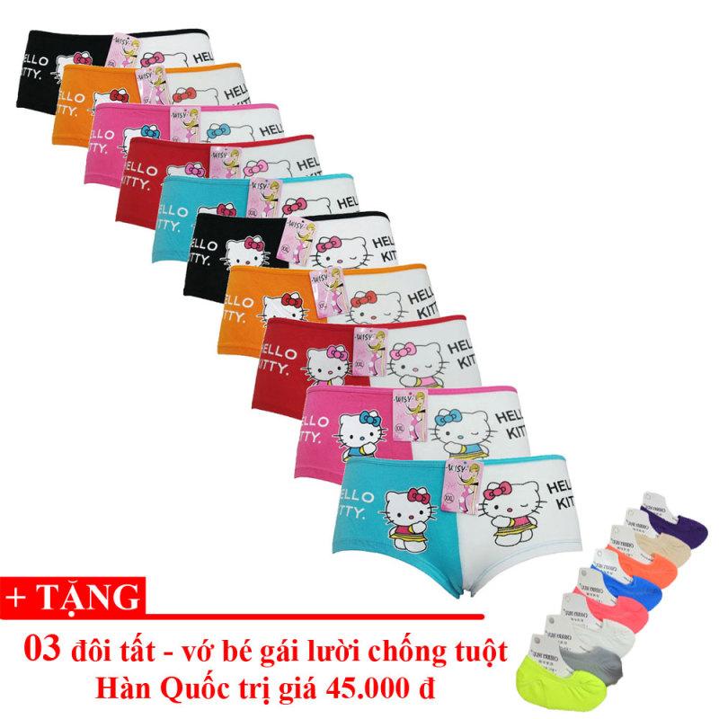 Nơi bán Bộ 10 quần lót bé gái Thái Lan + Tặng 03 Tất Lười Hàn Quốc - Lybishop
