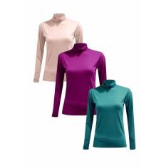 Bộ 2 áo giữ nhiệt cổ lọ nữ Chipxinhxk (da+xanh lý)