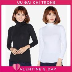 Bộ 2 áo giữ nhiệt cổ lọ tay dài SoYoung 2WM TOP 014C B W