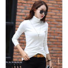 Bộ 2 áo giữ nhiệt lót nỉ trơn màu thời trang (trắng+ rêu)