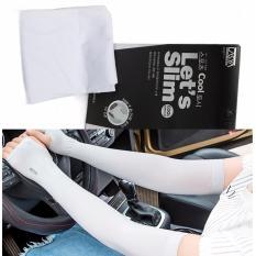 Bộ 2 đôi Găng tay chống nắng, chống tia UV (Ghi – Trắng)