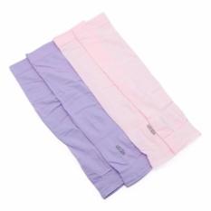 Bộ 2 đôi găng tay chống nắng hở ngón (Tím hồng)