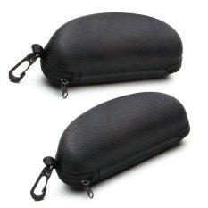Bộ 2 hộp đựng mắt kính có móc treo (Màu Đen)