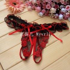 Bộ 2 quần lọt khe phối ren hoa Hồng sexy ZAVANS (Đỏ)