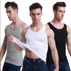 Bộ 3 áo thun ba lỗ body nam T&Q (trắng, xám, đen)