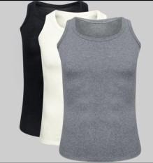 Bộ 3 áo thun ba lỗ nam COTON cao cấp thoitrangtrandoanh (Đen/ Trắng/ Xám)